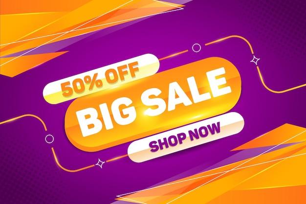 Grote verkoop promotionele korting banner vector ontwerp