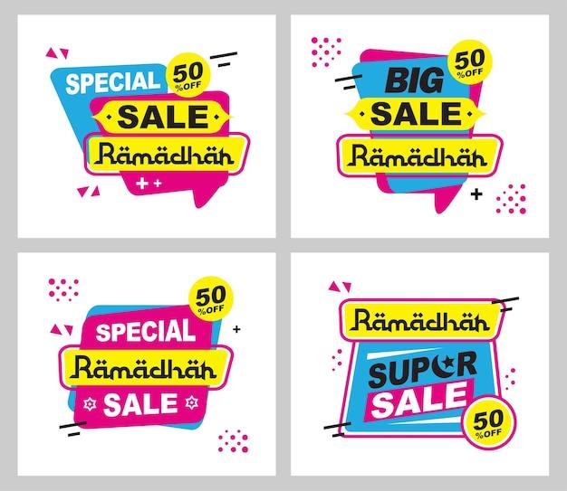 Grote verkoop ramadhan sjabloon