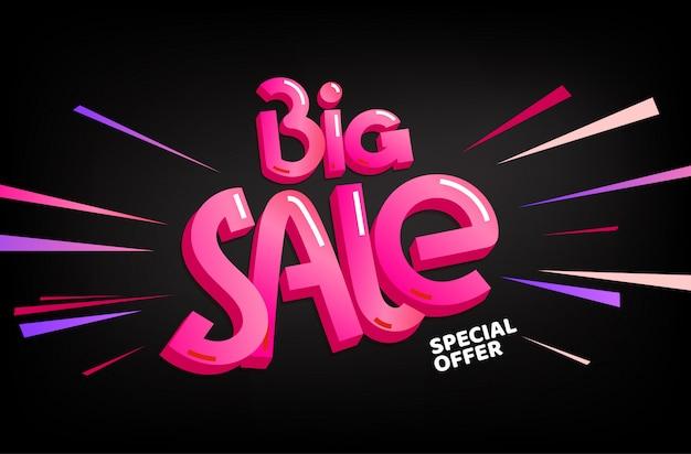Grote verkoop speciale aanbieding banner