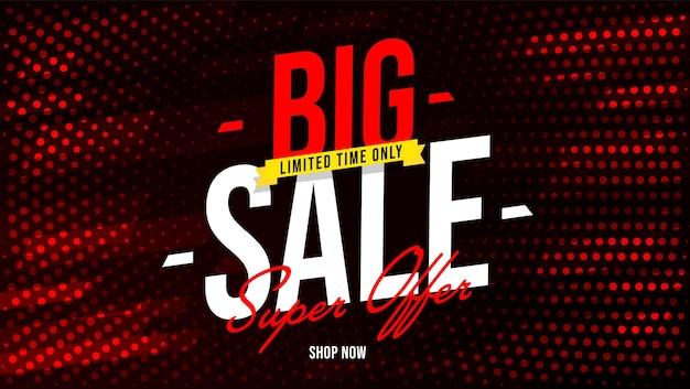 Grote verkoop superaanbieding bannersjabloon voor beperkte tijd