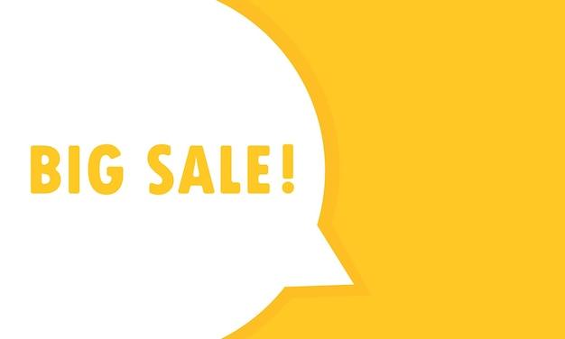 Grote verkoop tekstballon banner. kan worden gebruikt voor zaken, marketing en reclame. vectoreps 10. geïsoleerd op witte achtergrond.