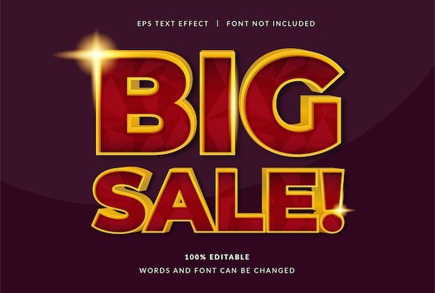 Grote verkoop teksteffect