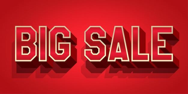 Grote verkoop tekststijl bewerkbaar teksteffect