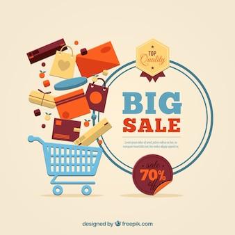 Grote verkoop template