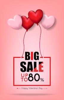 Grote verkoop voor sint valentijnsdag