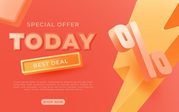 Grote verkoopbanner, dit weekend speciale aanbieding reclamebannersjabloon, vectorillustratie