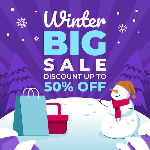 Grote verkoopposters voor winterevenementen