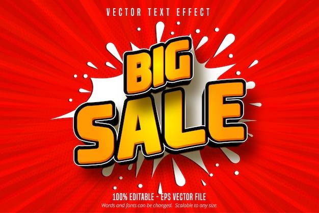 Grote verkooptekst, bewerkbaar teksteffect in winkelstijl