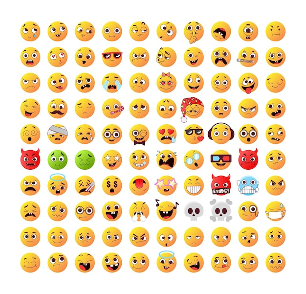 Grote verzameling emoticons