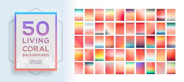 Grote verzameling trendy kleurrijke levendige achtergronden