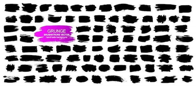 Grote verzameling van grunge-elementen.