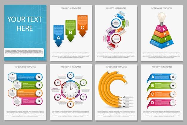 Grote verzameling van kleurrijke infographics.