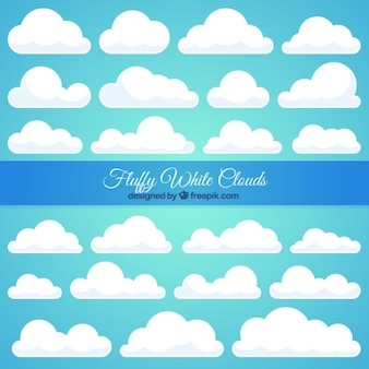 Grote verzameling van witte wolk