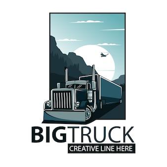 Grote vrachtwagen poster