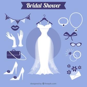 Grote vrouwelijke accessoires voor bruiloft