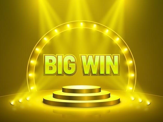 Grote win casino banner voor tekst.