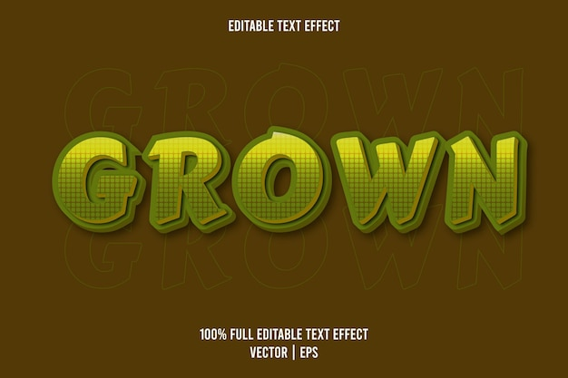 Grown bewerkbare teksteffect groene kleur