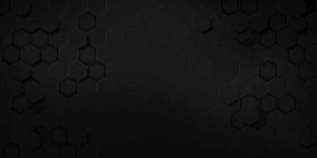 Grunge abstracte zwarte zeshoek textuur sport vectorillustratie. geometrische achtergrond. modern vormconcept.