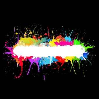 Grunge achtergrond met kleurrijke verf markeringen