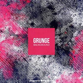 Grunge achtergrond met verf vlekken en lijnen