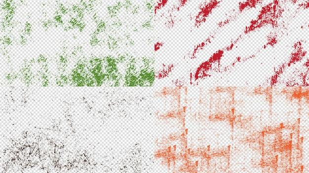 Grunge achtergrond textuur set