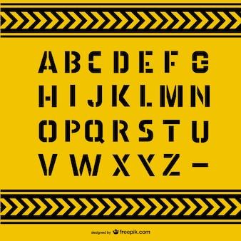 Grunge alfabet letters