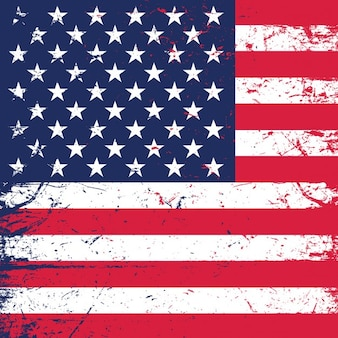 Grunge amerikaanse vlag achtergrond ideaal voor independence day
