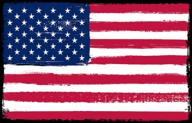 Grunge amerikaanse vlag