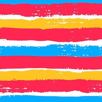 Grunge borstelt blauw en roze naadloos patroon