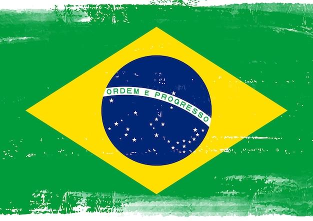 Grunge brazilië vlag