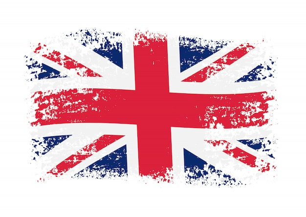 Grunge britse vlag
