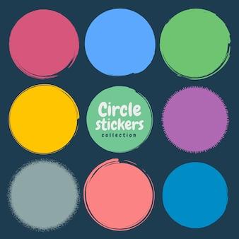 Grunge cirkel set.