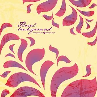 Grunge floral vector achtergrond