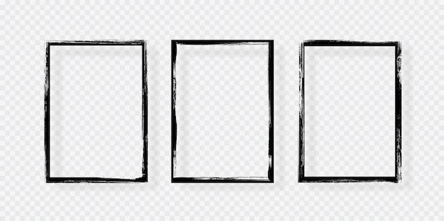 Grunge frame met schaduw