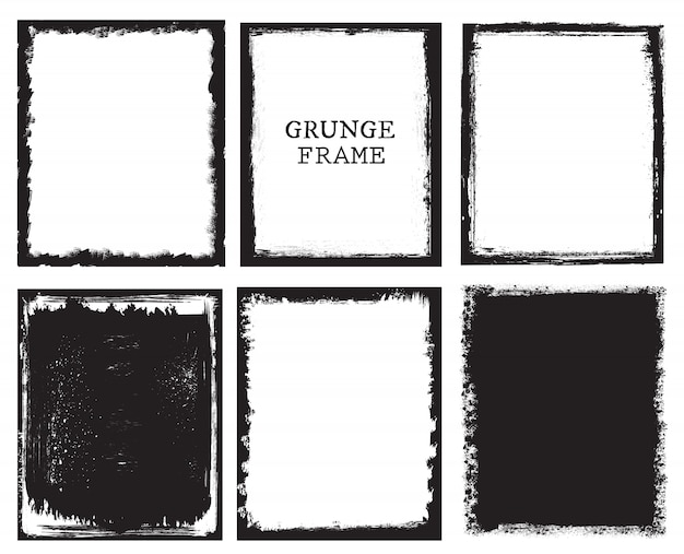 Grunge frames-collectie