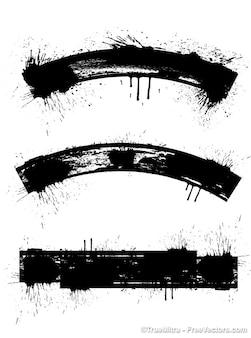 Grunge frames voor titels.
