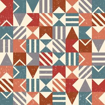 Grunge geometrische achtergrond of naadloos patroon
