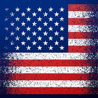 Grunge geweven amerikaanse vlag achtergrond