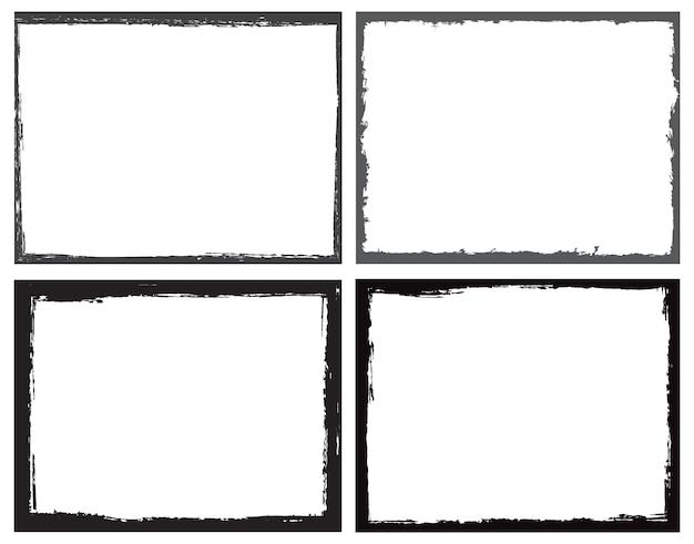 Grunge grens frames instellen