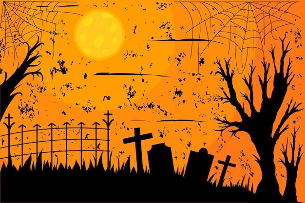 Grunge halloween achtergrondontwerp