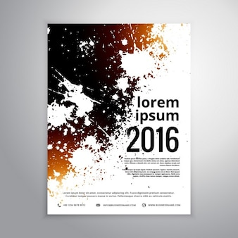 Grunge inkt splatter brochure affichemalplaatje