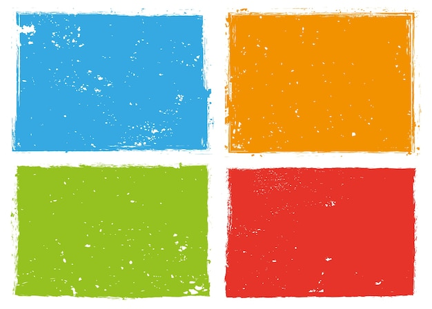 Grunge kleur rechthoekige frames