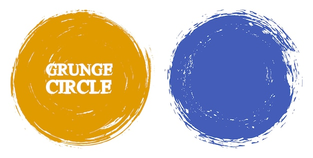 Grunge kleurencirkels