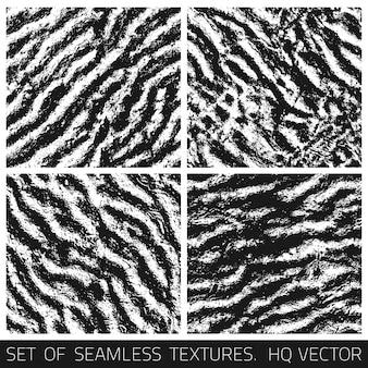 Grunge naadloze texturen vector set