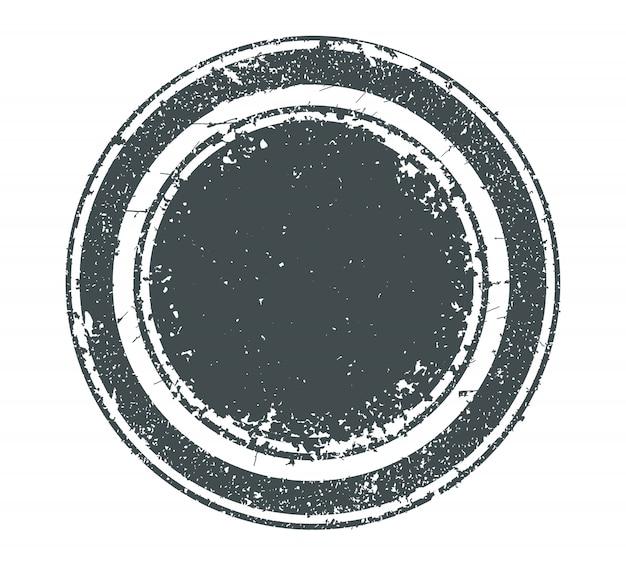 Grunge noodlijdende ronde stempel