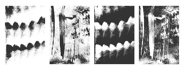 Grunge noodlijdende textuur achtergrond set