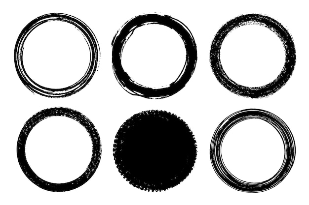 Grunge penseelstreek cirkels