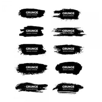 Grunge penseelstreek collectie