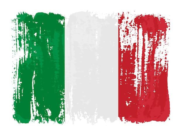 Grunge penseelstreek vlag van italië