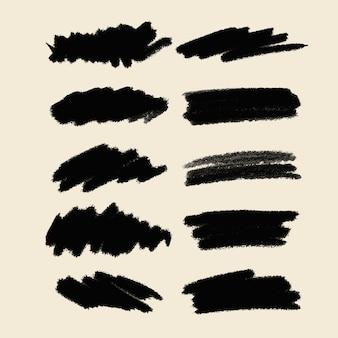 Grunge penseelstreken collectie